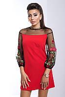 """Женское сильно красное модное платье """"Лола"""" со скидкой, одежда от производителя"""