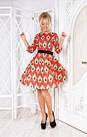 Женское элегантное цветное платье, в расцветках