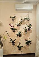 """Подставка для цветов """"Дерево"""" настенное с мелкими листьями"""