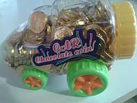 Шоколадные монеты-машынки