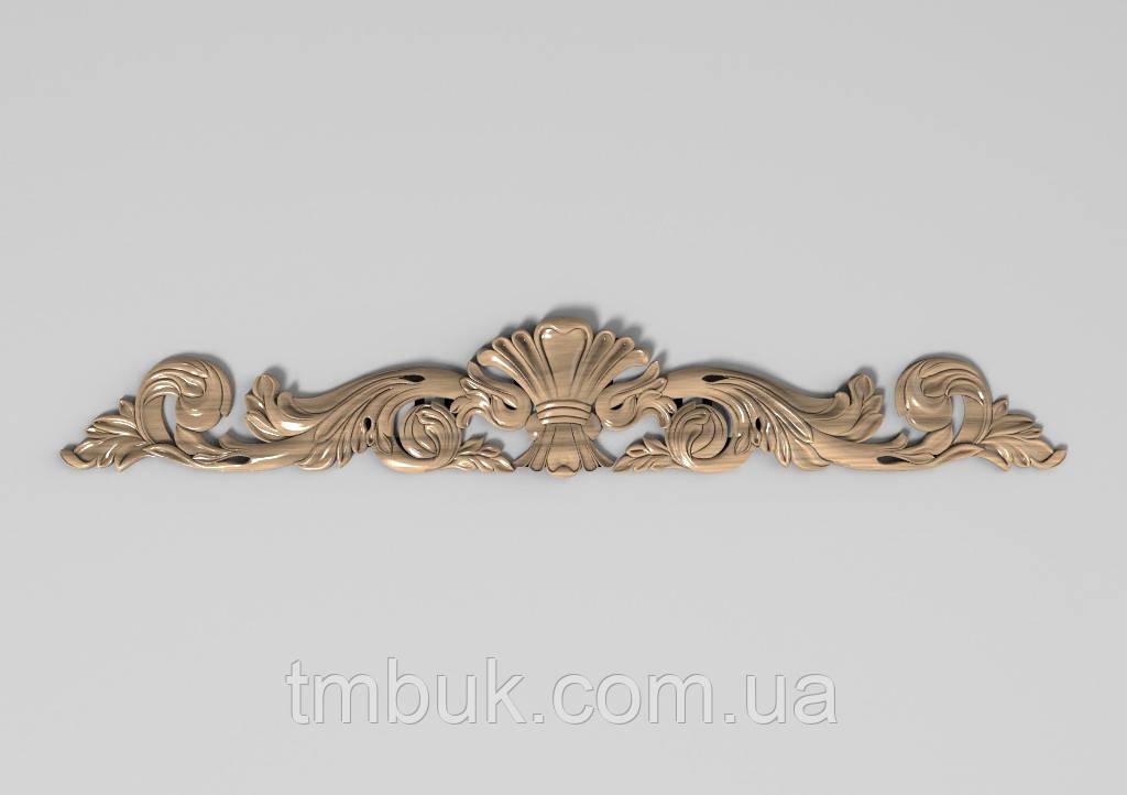 Горизонтальный декор 109 корона - 600х96 мм