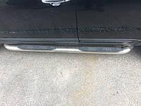 Пороги на Hyundai Santa Fe труба нержавейка