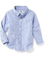 Детская рубашка в парусники Old Navy для мальчика