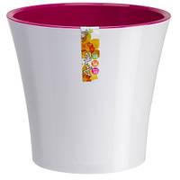 Горшок для цветов ARTE белый-пурпурный, Santino 0,6 литра