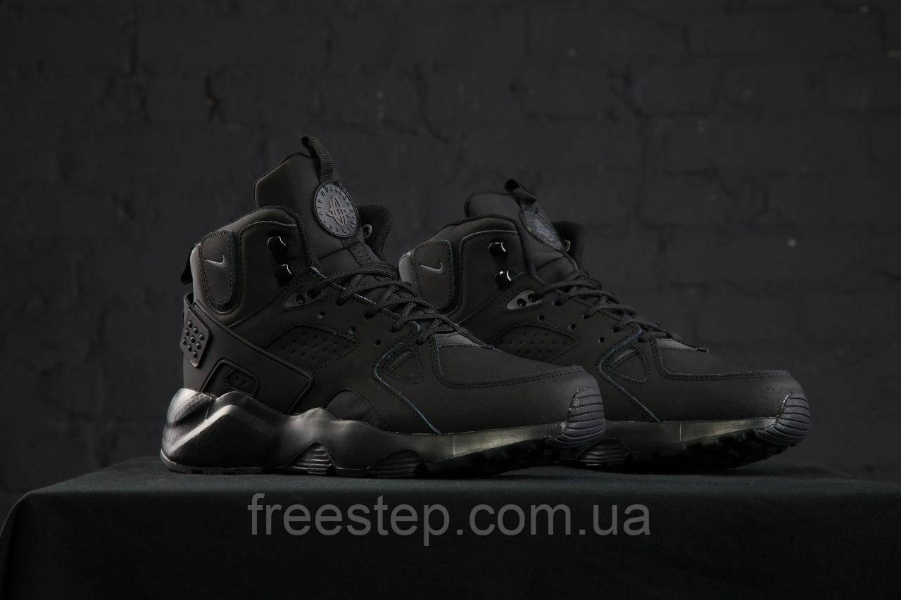 1e06f8dc Зимние кроссовки в стиле Nike Air Huarache X Acronym City MID Lea нубук  высокие черные -