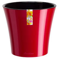 Горшок для цветов ARTE красный-черный, Santino 3,5 литра