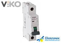 Автоматический выключатель 1р 50А 4,5КА 230/400V Тип С VIKO