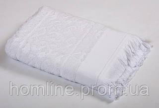 Полотенце Tac Royal Bamboo Jacquard белое 70*140