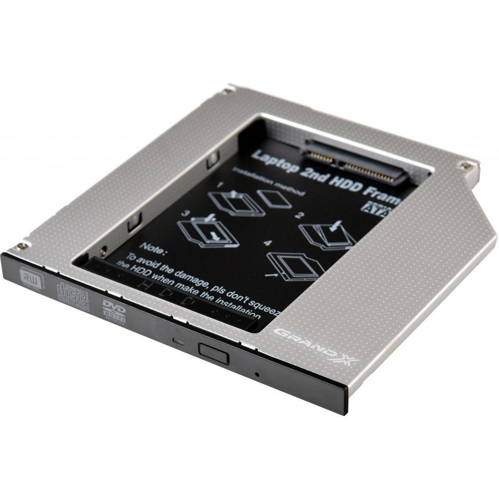 Фрейм-переходник Grand-X HDD 2.5'' to notebook ODD SATA/mSATA (HDC-24)