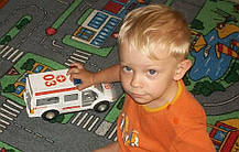 Детский ковер для мальчика с дорогами Плейграунд, фото 3