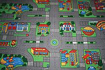 Детский ковер для мальчика с дорогами Плейграунд, фото 2