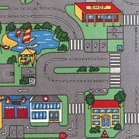 Детский ковер для мальчика с дорогами Плейграунд, фото 1