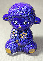 Баранчик  с цветами (синий)