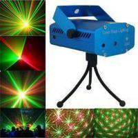 Лазерный проектор 2 рисунка красно-зеленый