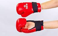 Перчатки для тхэквондо PU DAEDO  (р-р S-L, красный)