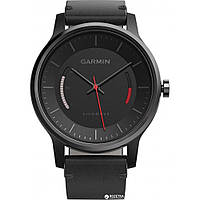Garmin Vivomove Classic, Black with Leather Band (010-01597-10)