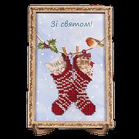 Вышивка Бисером Открытка для вышивания бисером FLO-060 Волшебная страна Украина