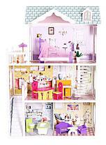 Мега большой игровой кукольный домик для барби 4108 Beverly 124см!, фото 3