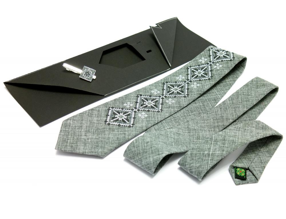 """Вышитый галстук и зажим """"Витан"""""""
