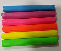 ПОЛИМЕРНАЯ ГЛИНА (термопластилин) в наборе 6 неоновых цветов