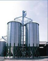 Металлические силосы с конусным дном для хранения зерновых (Германия)