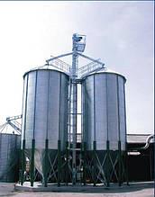Силоси з конусним дном для зберігання зернових (Німеччина)