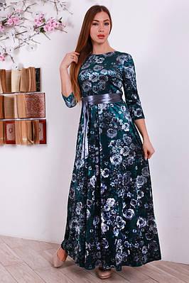 4d630988123 Женское длинное платье с цветочным принтом   продажа