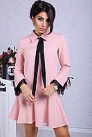 Элегантное дизайнерское платье с французским кружевом с 42 по 50 размер 2 цвета