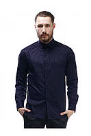 Мужская рубашка «Гайд» темно-синего цвета