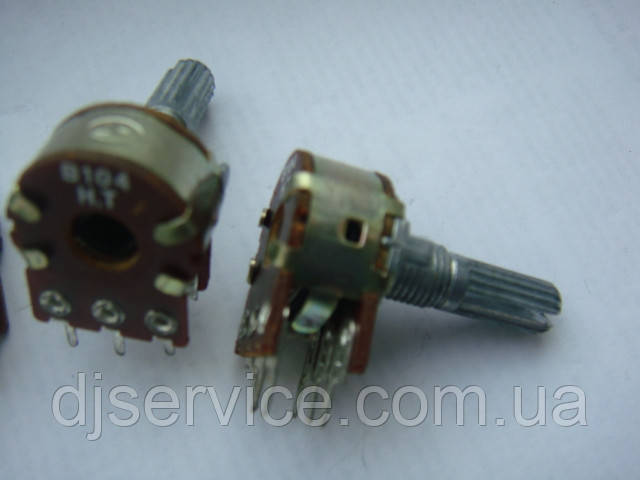 Потенциометр WH148  104b  (100kb) 20mm