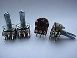 Потенциометр WH148  104b  (100kb) 20mm, фото 3