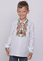Вышиванка для мальчика «Дубочек» (домотканое полотно), фото 1
