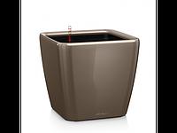 Вазон 35 Quadro LS,  серо-коричневый, Lechuza 33*35 см
