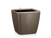 Вазон 43 Quadro LS,  серо-коричневый, Lechuza 40*43 см