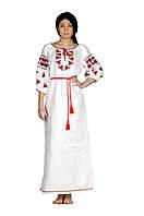 Платье «Ружа» белого цвета, длинное