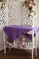 Детский плед фиолетового цвета