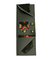 Вышитый галстук с платком и запонками «Яснолик»