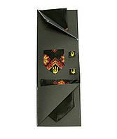 Вишиту краватку з хусткою і запонками «Яснолик»