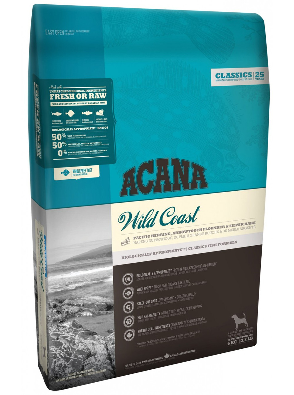 Корм для собак Acana Wild Coast 6кг