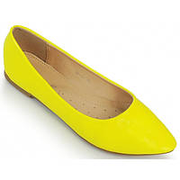 02-12 Желтые женские балетки NBL-140098 38,36