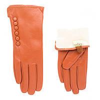 Перчатки женские кожаные 008 Elegant ПЖМ рыж
