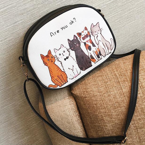 женская мини сумочка с котом