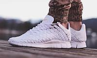 Кроссовки Nike free inneva woven tech sp sea glass (бежевый)