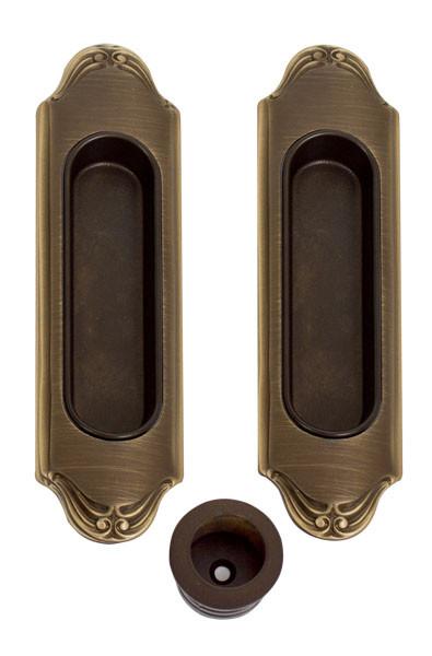 Комплект ручек  Mandelli 1028 на раздвижные двери мат бронза( комплект)