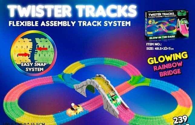 Детский гоночный трек Twister Tracks 7789 светящийся (аналог Magic Tracks)