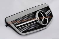 Решетка радиатора с эмблемой AMG на Mercedes E-class W212 2009-2013 до рестайлинг