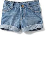 Детские джинсовые шорты с подворотами Олд Неви для девочки