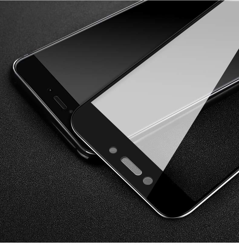 Стекло с рамкой для Xiaomi Redmi 4x фирма INCORE. Черная рамка