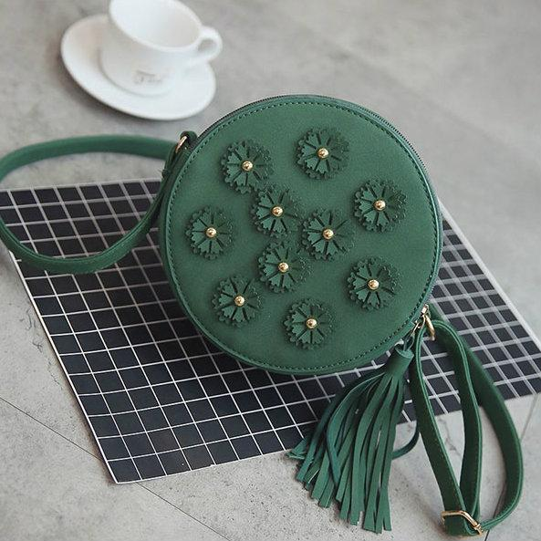 Круглая женская мини сумочка