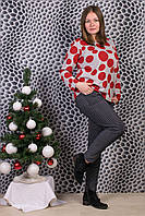 Женские штаны на меху Натали А993-4 6XL. Размер 52-58.